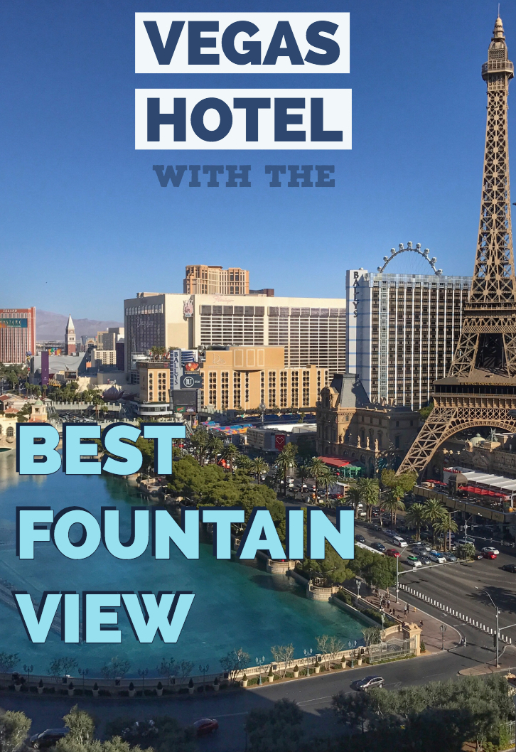 Vegas hotel with the best fountain view - The Cosmopolitan