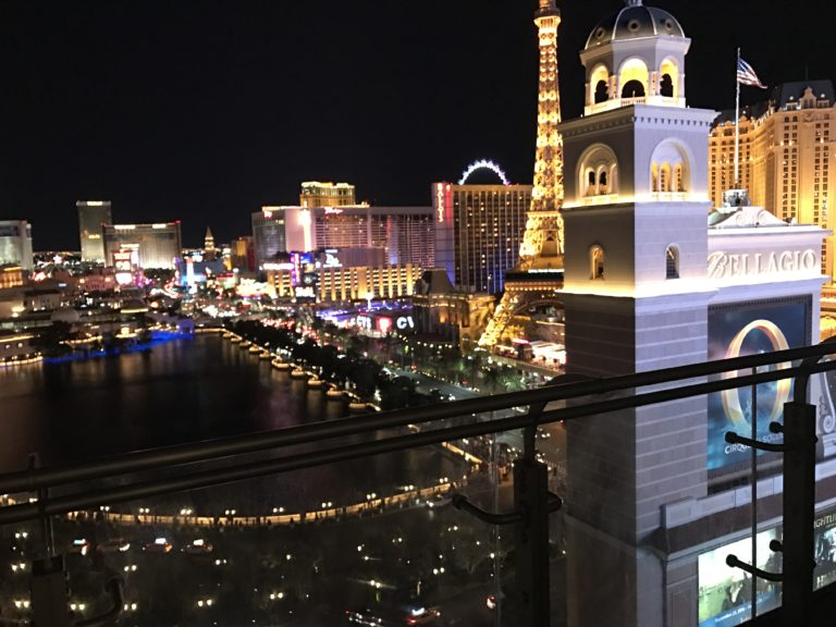 Night View Fountain Vegas Cosmopolitan