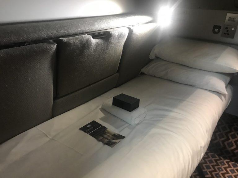 lower bunk on night riviera sleeper train gwr