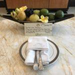 Fresh fruit in room Trans hotel