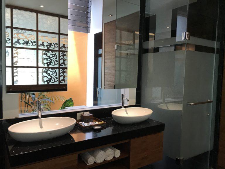 Double SInks in Ensuite bathroom - private pool villa Sun Island Seminyak