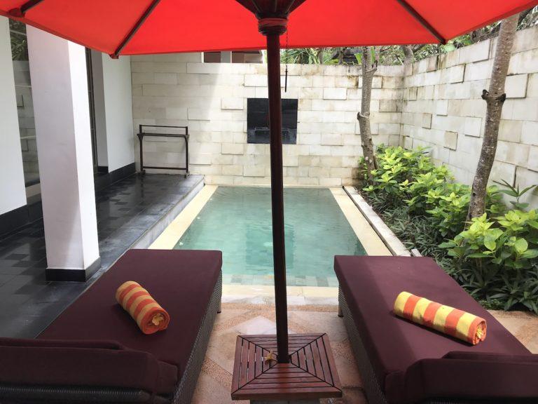 Private pool sun island seminyak