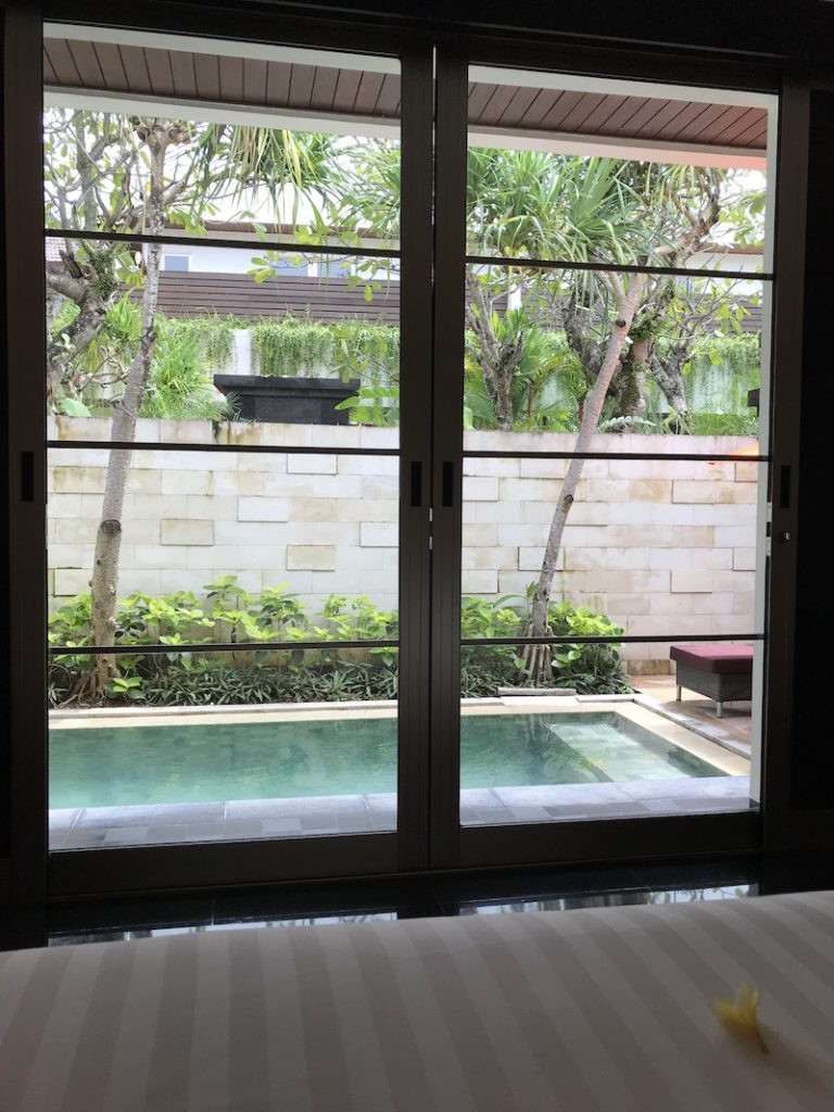 view from the room Sun Island Seminyak