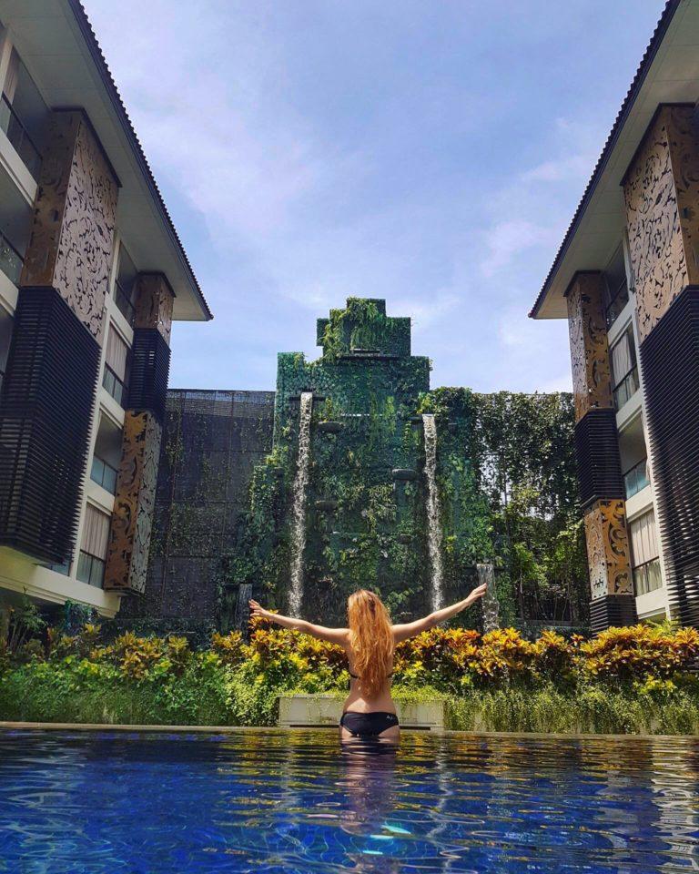 Kashlee Kucheran at the Trans Resort Bali pool