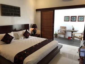 Bedroom at the Kamar Kamar hotel