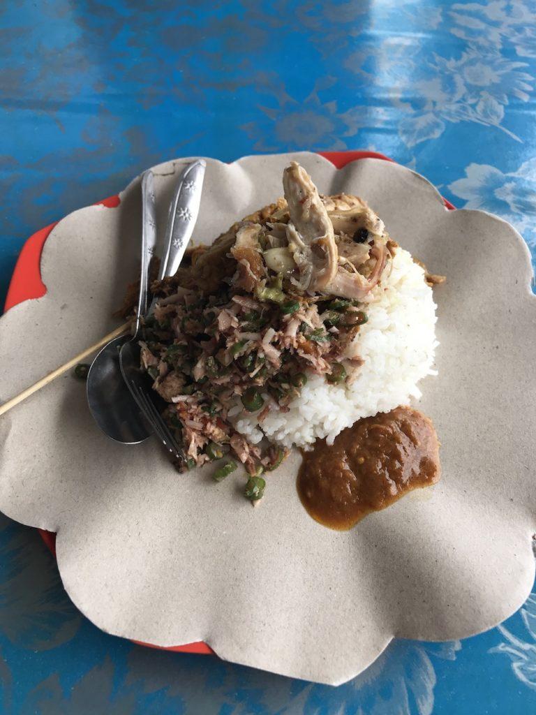 Local Warung lunch in Bali