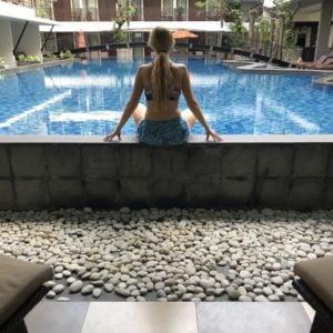 View from the pool access room at Sun Island - Kashlee Kucheran