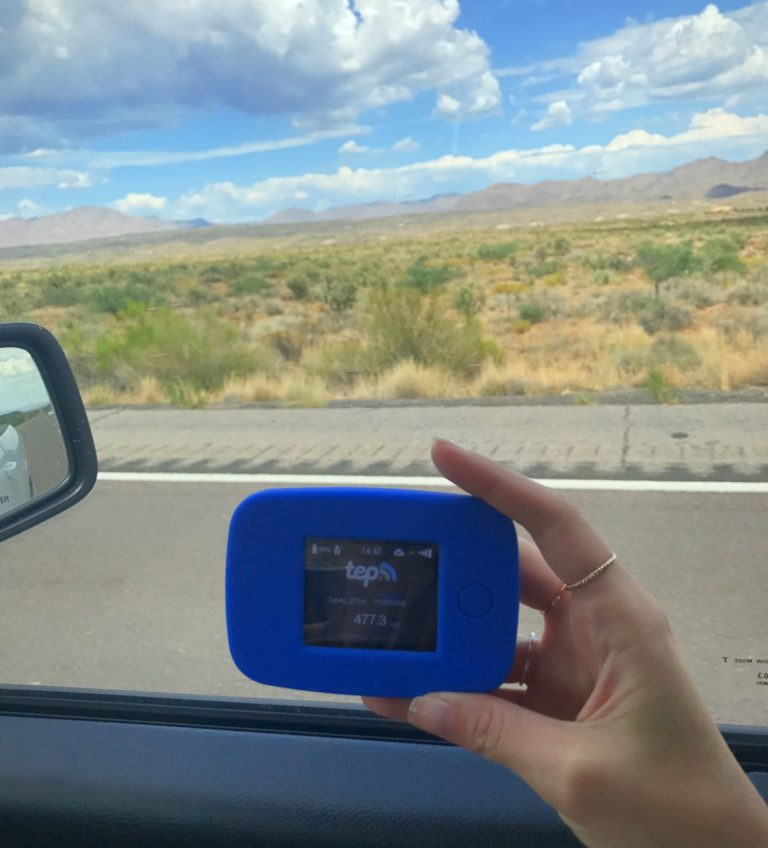 Taking Tep Wireless portable hotspot on a USA Road Trip