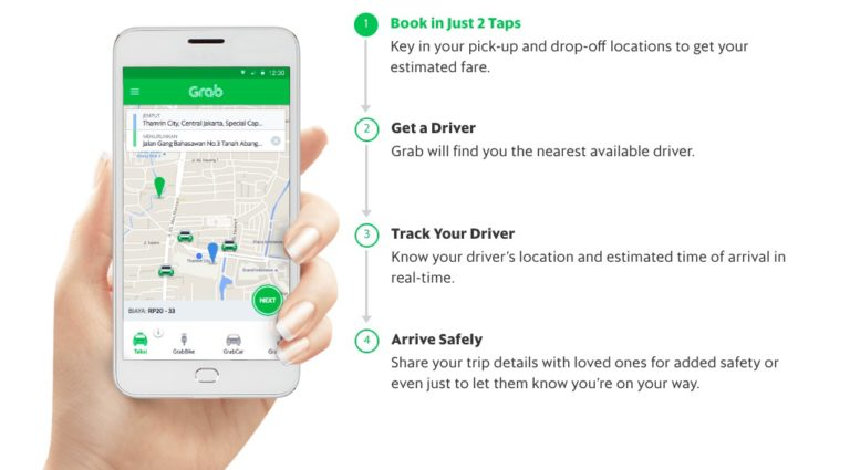 How to use the Grab app taxi Bali