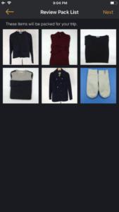 DUFL pack list