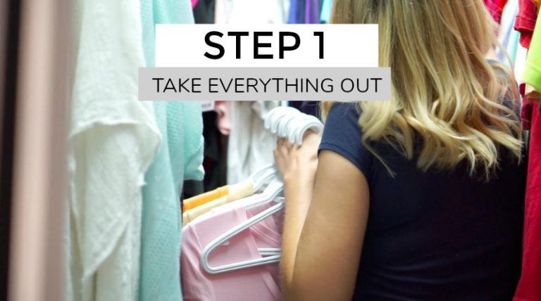 Clean Out Closet Minimalist