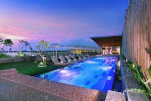 Vasanti rooftop pool in kuta bali