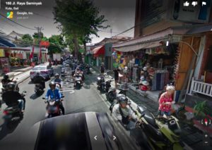 Street outside of Sun Island Seminyak