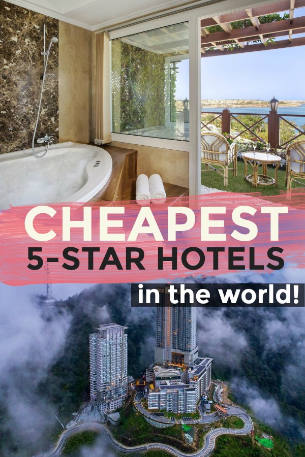 List of the Top 15 CHEAPEST 5-Star Hotels in the Entire WORLD!