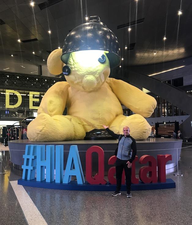 Teddy Bear at the Doha Airport