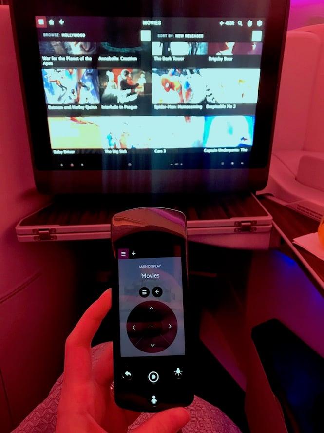 Qatar Business Class In Flight Entertainment System