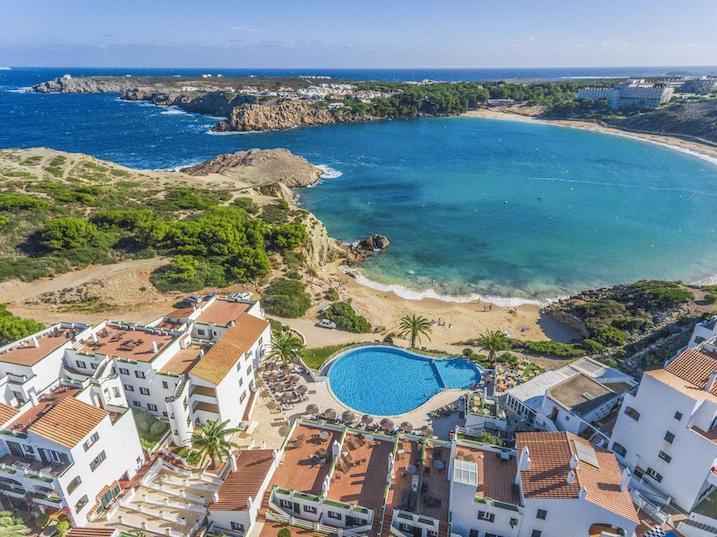 White sands beach resort in spain