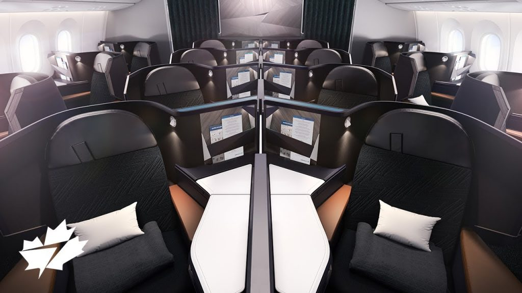 Business Class on WestJet's new 787 Interior - New routes and destinations for westjet 787