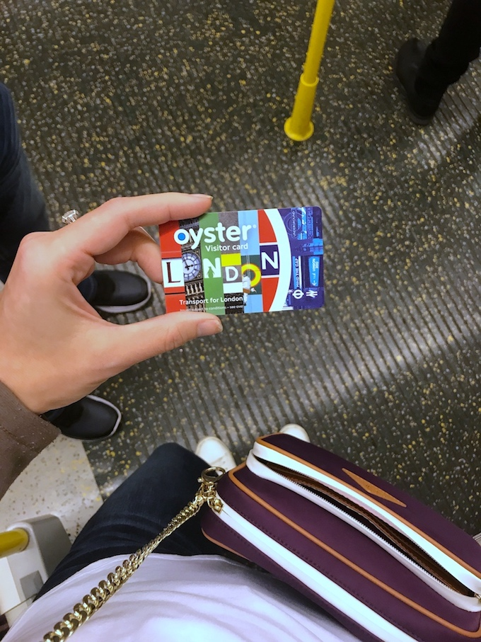 Visitor Oyster Card for the Tube London Underground subway