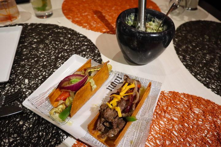 Tacos at Qsine on Celebrity Millennium