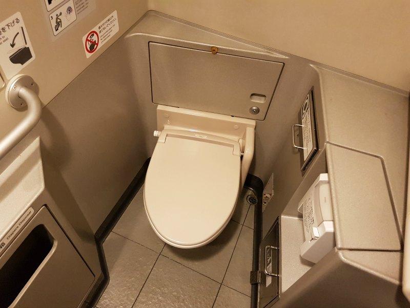 Bathrooms on the Shinkansen train japan