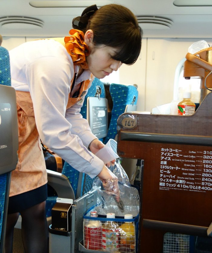 Is there food on the Shinkansen train?