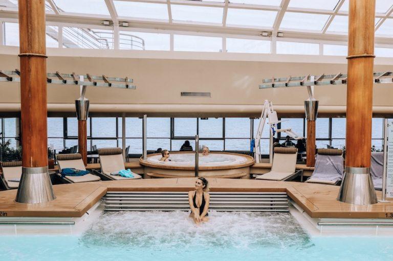 Kashlee Millennial traveler in cruise ship pool