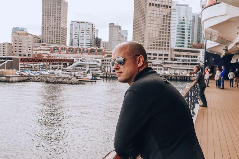 Trevor Kucheran at Canada Place Vancouver Pier