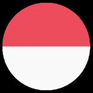 circle flag of indonesia