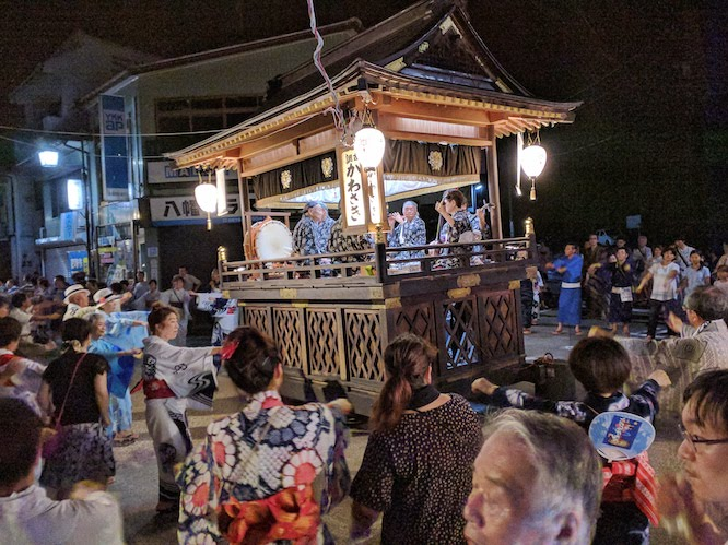 odori dance festival in gujo