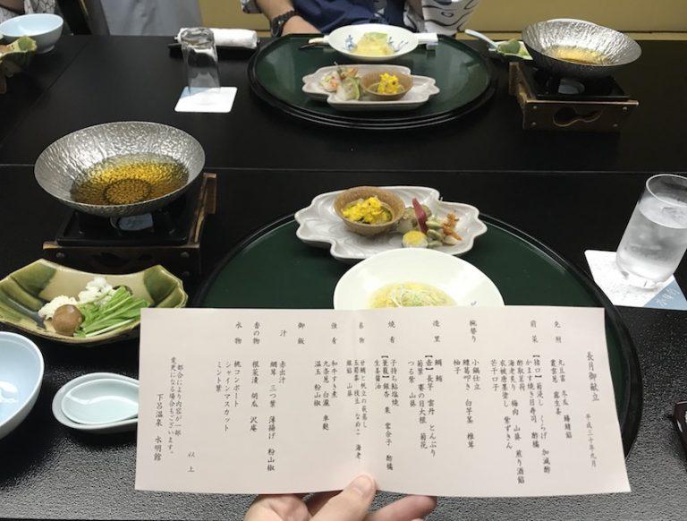 Kaiseki Dinner in Japan