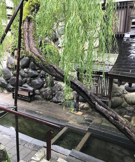 Water shrine in Gujo Japan