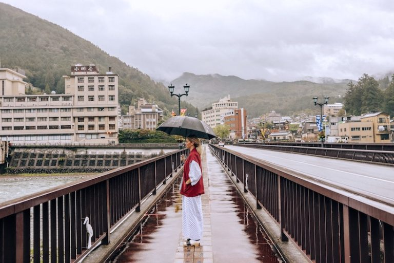 walking through gero japan with Yukata