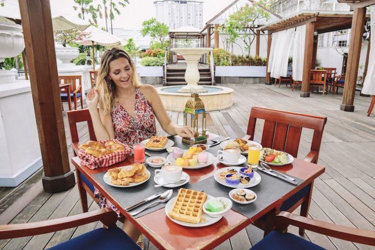 Breakfast at the Majapahit Hotel