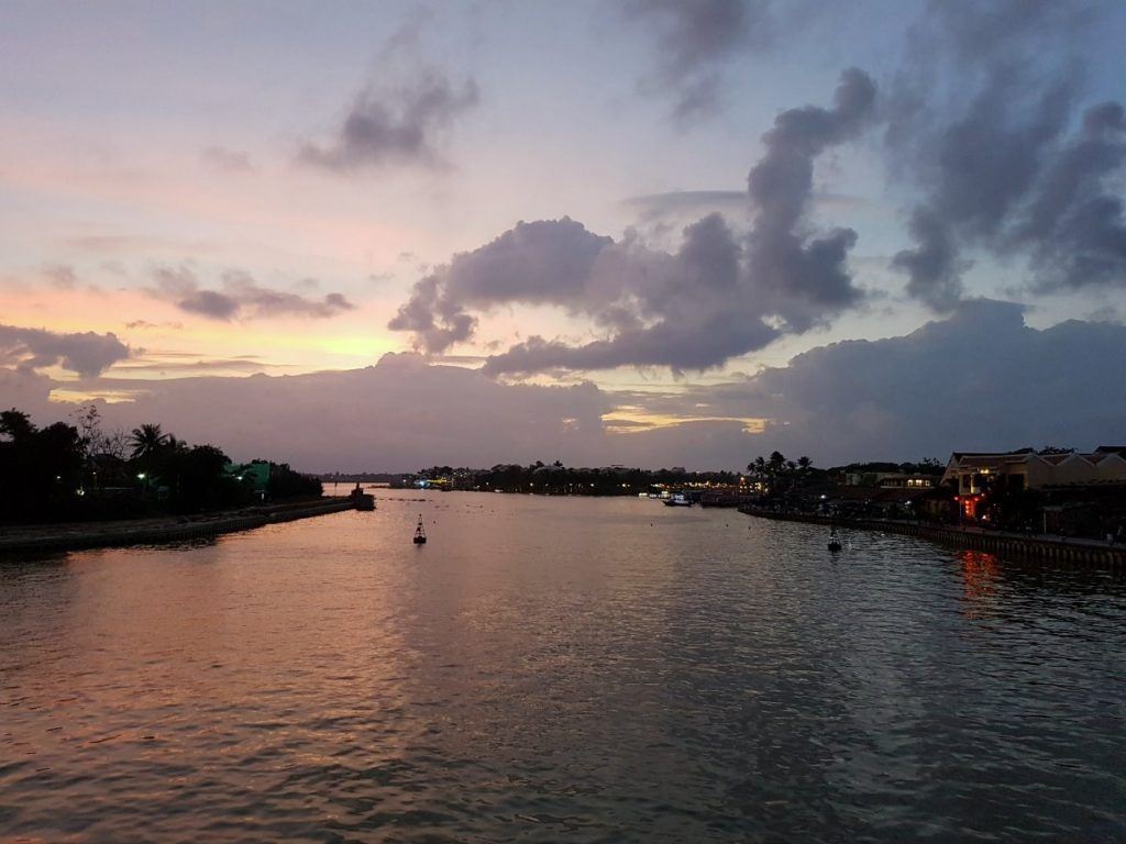 The view from the bridge we cross in Hoi An