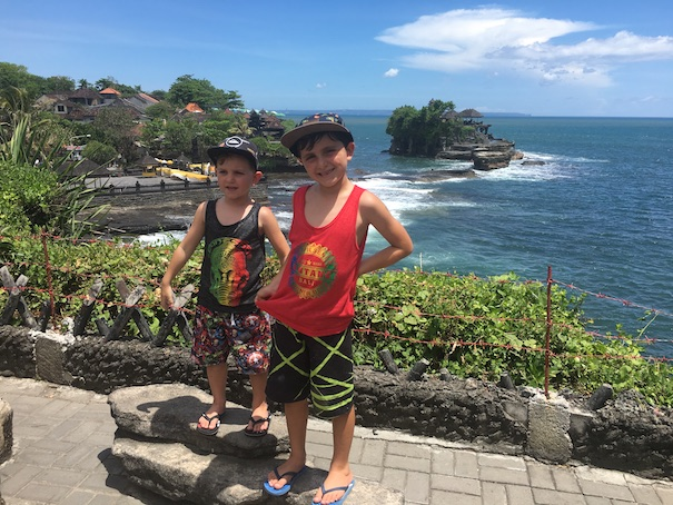 visit a temple in bali with kids