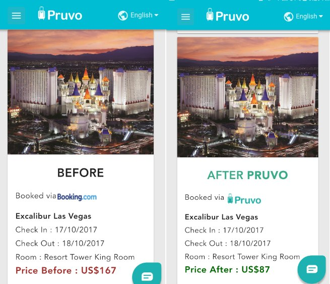 Pruvo travel app
