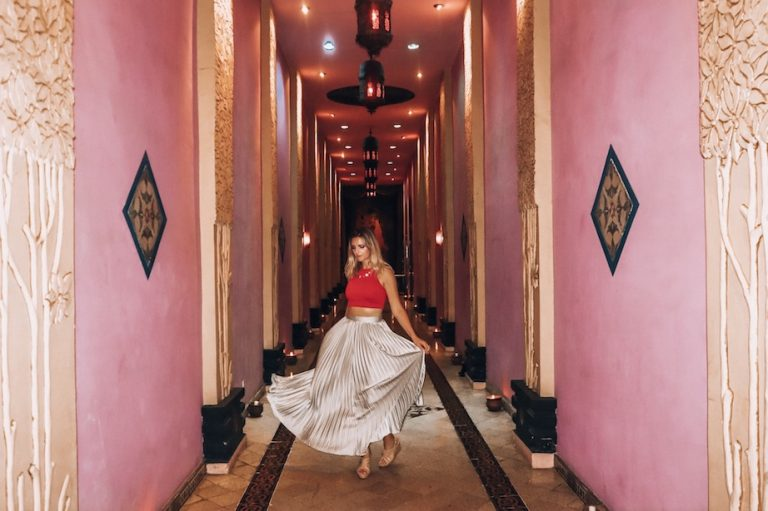 kashlee Kucheran in the hallway of love in tugu malang hotel