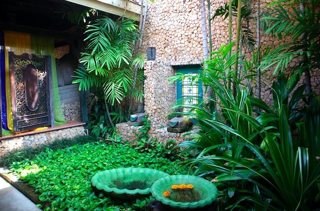 garden area of tugu malang hotel