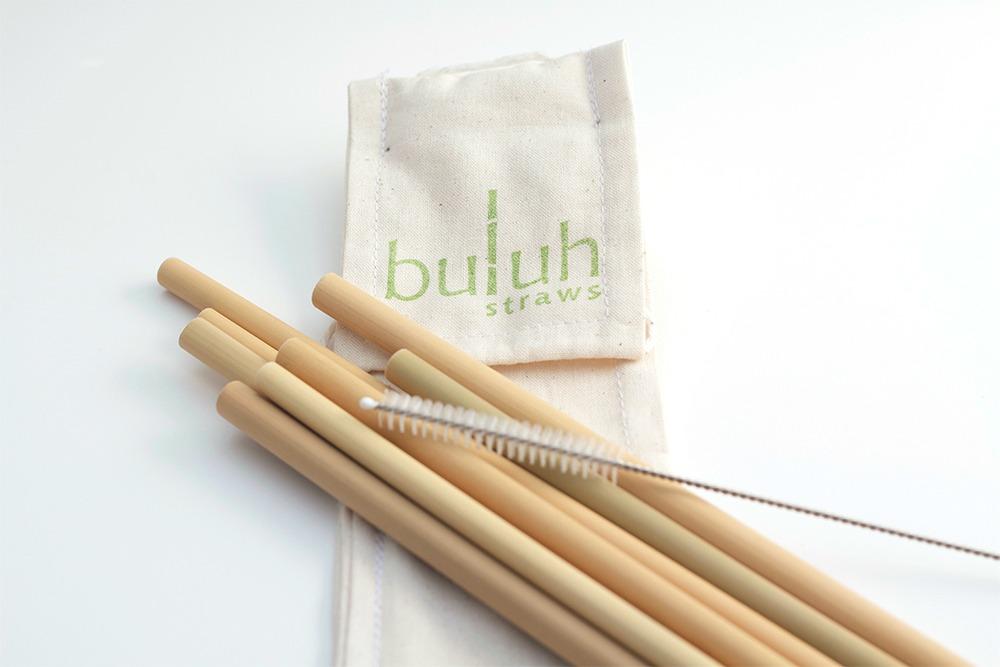Organic Bamboo Straws Eco Friendly Travel Kit