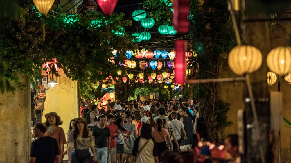 Busy Streets In Hoi An