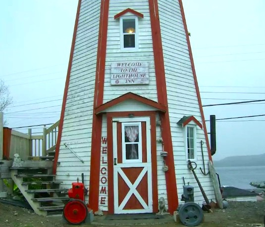 glamping with unique accommodations- stay the night in a lighthouse in canada