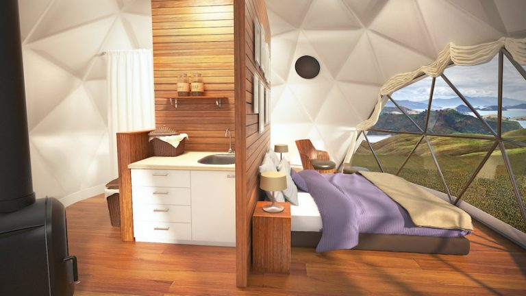 new buffalo pound resort with domes - unique glamping in saskatchewan canada