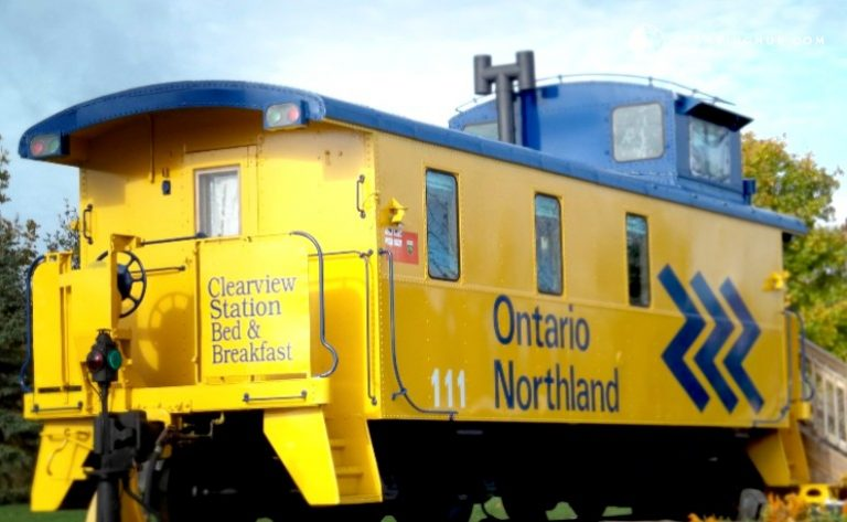 unique accommodations in canada - stay in a train caboose in creemore ontario
