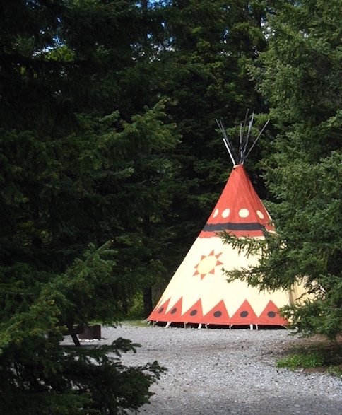 stay in a tipi near banff and calgary alberta - glamping in canada