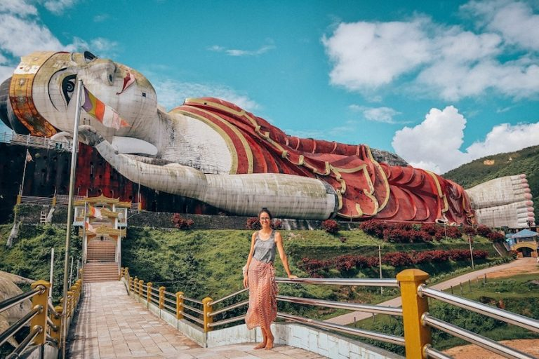 Win Sein Taw Ya, the biggest reclining Buddha in the world - things to do in myanmar