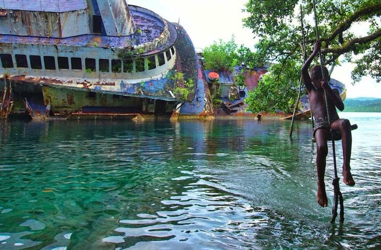 Roderick Bay Solomon Islands - shipwreck