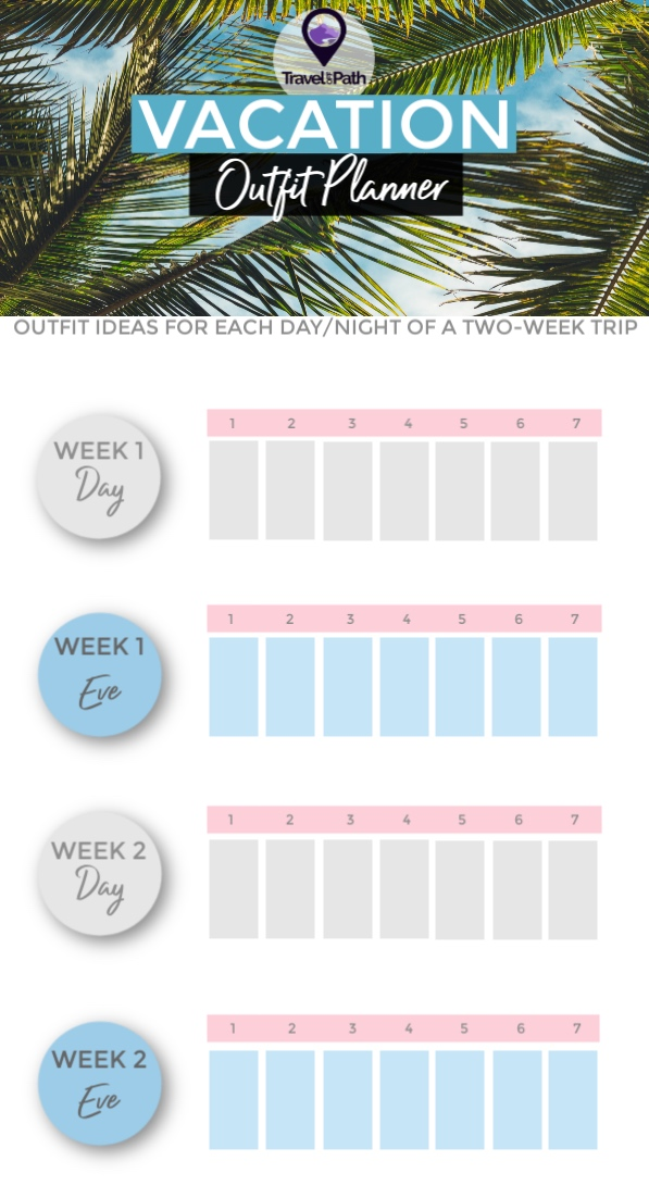 Vacation Outfit Planner - Packing Checklist