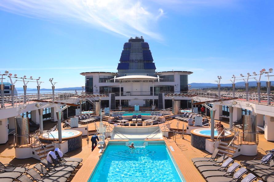 Celebrity Millennium pool deck