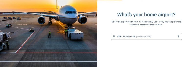 Put in your home airport on Scott's Cheap Flights